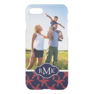 Starfish Style Pattern| Your Photo & Monogram iPhone 8/7 Case