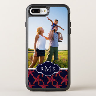 Starfish Style Pattern | Your Photo & Monogram OtterBox Symmetry iPhone 7 Plus Case