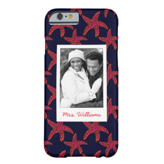 Starfish Style Pattern | Your Photo & Name Barely There iPhone 6 Case