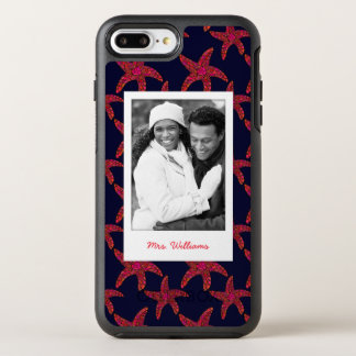 Starfish Style Pattern | Your Photo & Name OtterBox Symmetry iPhone 8 Plus/7 Plus Case