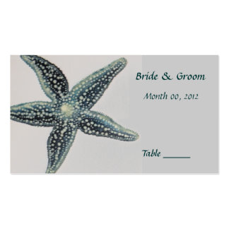Starfish Table Place Card Pack Of Standard Business Cards
