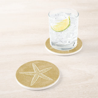 Starfish Tan Sand Coaster