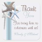 Starfish Thank You Personalised Wedding Sticker