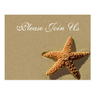 Starfish Tropical Event And Wedding Invitation Postcard