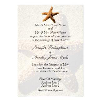 Starfish Tropical Wedding Invitations
