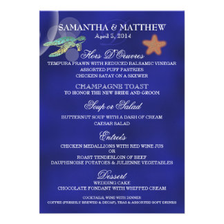 Starfish Turtle beach menu PERSONALIZE Announcement