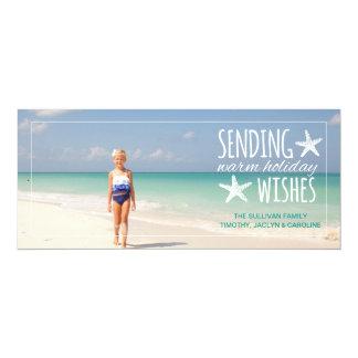 Starfish Warm Holiday Wishes   2015 Holiday 10 Cm X 24 Cm Invitation Card