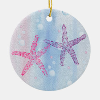 STARFISH WATERCOLOR PASTEL PERSONALIZED Ornament