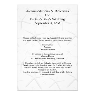 Starfish Wedding Accommodations Directions Cards