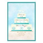 Starfish Wedding Cake Bridal Shower Invitations