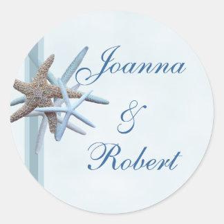 Starfish Wedding Couple Beach Theme Sticker
