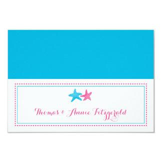 Starfish Wedding Escort Cards 9 Cm X 13 Cm Invitation Card