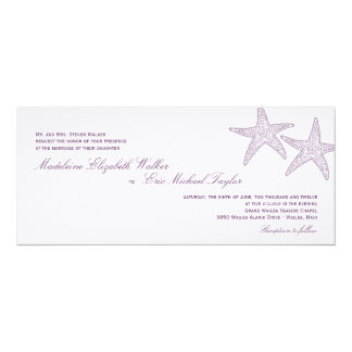 Starfish Wedding Invitation - Purple