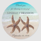 Starfish Wedding Ocean Thank You Favour Labels