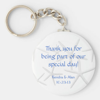 Starfish Wedding Personalized Favors Key Ring