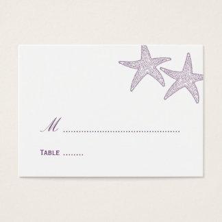 Starfish Wedding Place Card - Purple