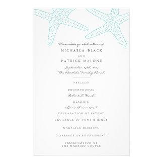 Starfish Wedding Programs 14 Cm X 21.5 Cm Flyer