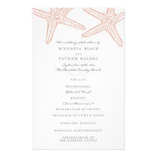 """Starfish Wedding Programs 5.5"""" X 8.5"""" Flyer"""