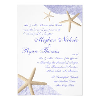 Starfish Wedding Purple Cards