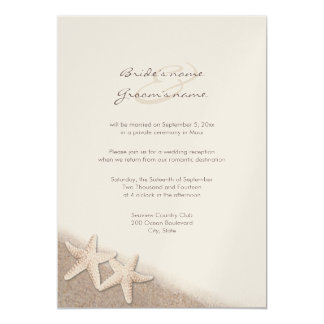 Starfish Wedding Reception Only Invitations