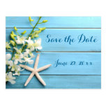 Starfish Wedding Save The Dates With Orhids Postcard