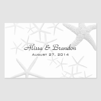 Starfish Wedding Water Bottle Wrapper Template Stickers