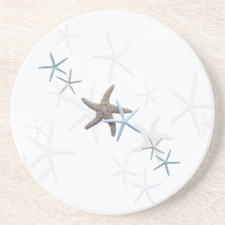Starfish White Drink Coaster