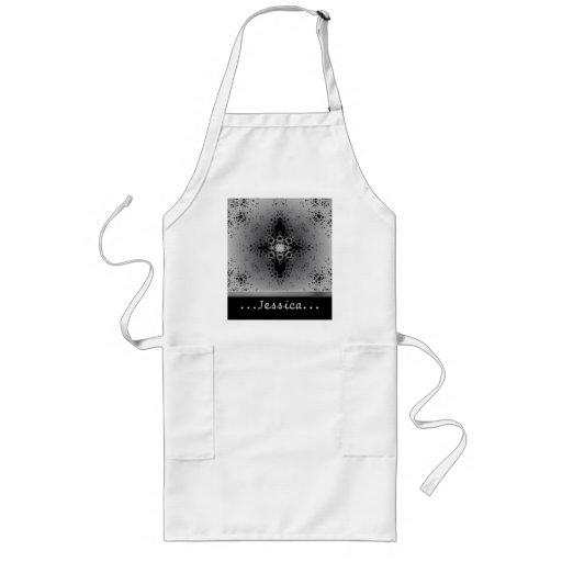 Starflake (Black on White) Apron
