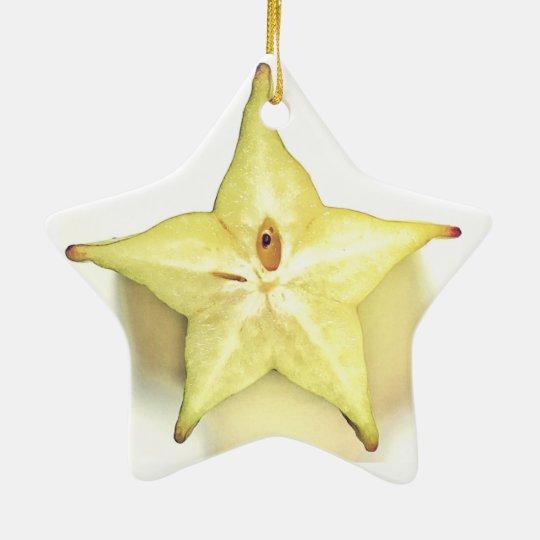 Starfruit Dble-Sided Star Ornament