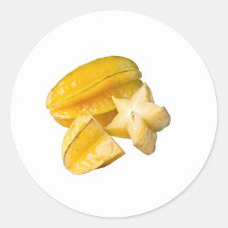 Starfruit Round Sticker