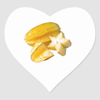 Starfruit Heart Sticker