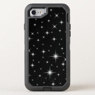 Stargazer Bright Stars Night Sky Dark Black OtterBox Defender iPhone 8/7 Case