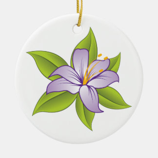 Stargazer lilac purple lily custom ornament