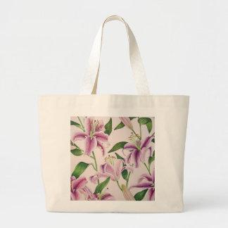 Stargazer Lilies Large Tote Bag