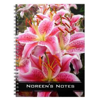 """""""Stargazer"""" Lilies ~ Note Book"""