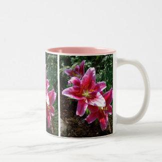Stargazer Lilies Two-Tone Coffee Mug
