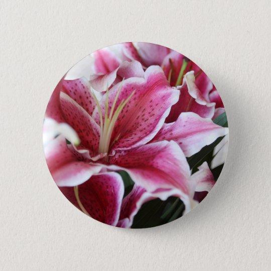Stargazer Lily 6 Cm Round Badge