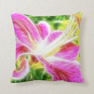 Stargazer Lily  Abstract Floral Throw Pillows