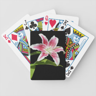 Stargazer Lily Bicycle Poker Cards