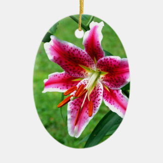 Stargazer Lily Christmas Ornament