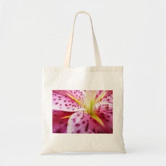 Stargazer Lily Colorful Abstract Pink Floral Budget Tote Bag
