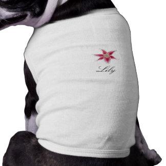 Stargazer Lily Doggie Tee Shirt