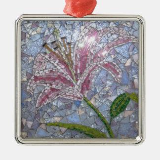 Stargazer Lily Mosaic Christmas Ornament