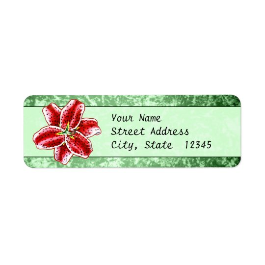 Stargazer Lily Return Address Label