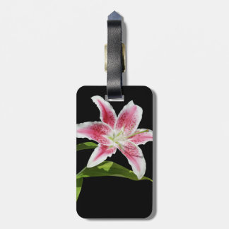 Stargazer Lily Travel Bag Tags