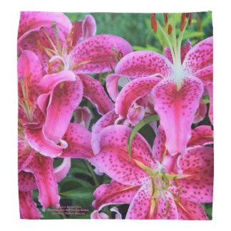 Stargazer Oriental Lilies Bandana