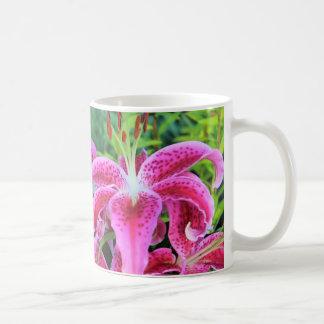 Stargazer Oriental Lilies, full flowers Coffee Mug