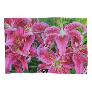 Stargazer Oriental Lilies, full flowers Pillowcase