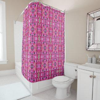 Stargazer Oriental Lilies, geometric Shower Curtain