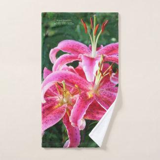 Stargazer Oriental Lilies Hand Towel